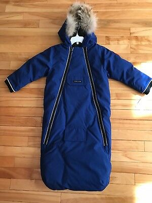 New Authentic Canada Goose Blue Bunny Bunting Snowsuit Infant, 18-24 M