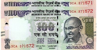INDIA 100 Rupees 2017 P NEW Letter E x 2 Consecutive UNC Banknotes