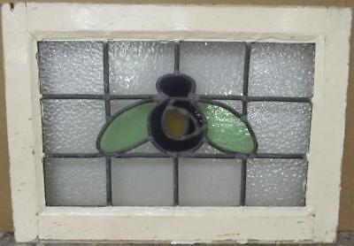 """OLD ENGLISH LEADED STAINED GLASS WINDOW Nice Abstract Design 22.75"""" x 16.25"""""""