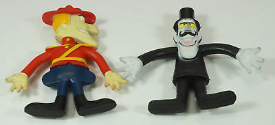 Wham-O Dudley Do Right & Snidely Whiplash Bendy Bendie Toys