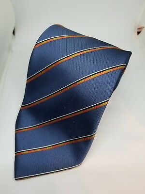 Brioni 100% Silk Men's Neck Tie New Nwt Blue/red Strip Italy
