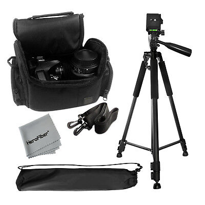 """Pro 60"""" Tripod with Deluxe Camera Case Bag for Sony, DSLR Cameras"""
