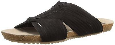 ed639b5b3be477 NEW MATISSE COLETTE Black Slide Sandals Womens 9 Suede Leather Free ...