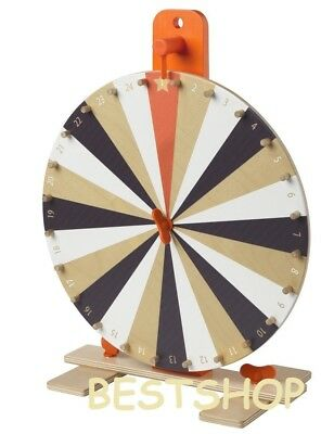 "Ikea Tabletop 15"" Prize Wheel Spinner 24 Slots numbers,colours symbol Spin Game"