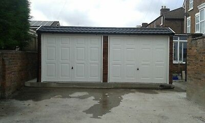 The Duchess - Double Concrete Sectional Garage With Pent Roof