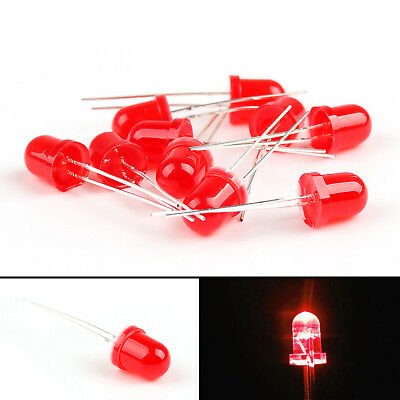 8mm/10mm LED Red Yel Grn Blu Diffused Light Emitting Diode Lamp Round Top F8/10
