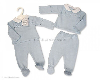 Baby Boys Girls Spanish Style Traditional  Knitted Jumper & Trousers Outift AW18