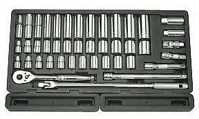 ATD TOOLS 1365 - 1/2 Driver SAE/Metric Socket Set, 43 pc.
