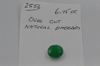 Natural Oval Cut Emerald 6.75ct