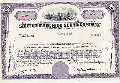 south Puerto Rico Sugar Company-shares v.1961