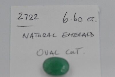 Natural Emerald Oval Cut 6.60ct