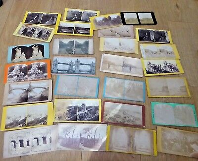 Job Lot of Antique Stereoviews Stereoscope Cards Ref#1