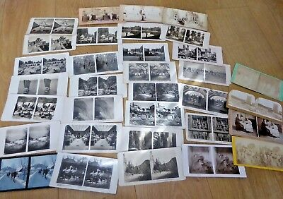 Job Lot of Antique and Vintage Stereoviews Stereoscope Cards Ref#4