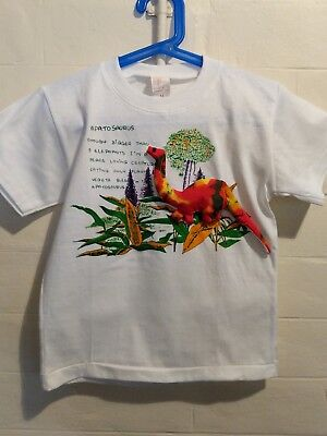 Apatosaurus Dinosaur kids childrens t-shirt, size M, brand new