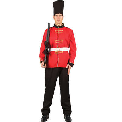 Adult Busby Guard Fancy Dress Costume Royal British Guard Soldier Outfit S Xl