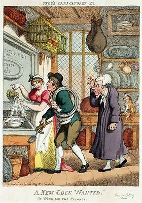 Vintage 18th Century British Satirical Print Napoleon Plum Pudding A3 Print