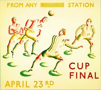 1932 FA Cup Final Newcastle Arsenal Transport Poster A3/A2/A1 Print