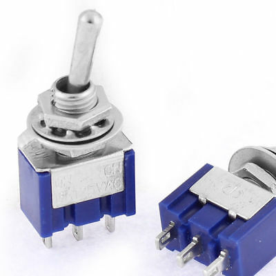 AC 125V 6A Amps ON/OFF/ON 3 Position DPDT Toggle Switch 2-5 pcs UK
