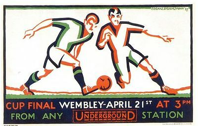 1928 FA Cup Final Promotional Transport Poster  A3 / A2 Print