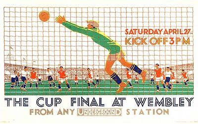 1929 FA Cup Final Bolton Portsmouth Transport Poster A3 / A2 Print