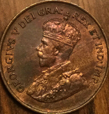 1920 CANADA SMALL 1 CENT PENNY - Best of circulated condition !
