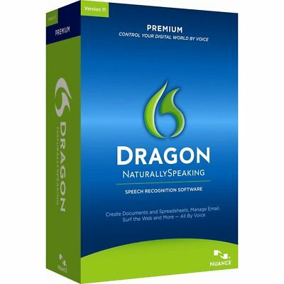 Nuance Dragon Naturally Speaking Premium 11.5 - DVD & Licence Key Only