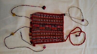 Bolivian ANTIQUE Aymara Indian 1940's Antique COCA LEAF POUCH