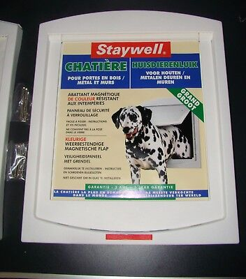 Porte pour chiens grands Chatière Staywell Grand format 468 mm x 391 mm - NEUF