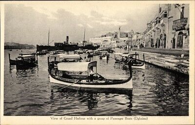 Ak Malta, View of Grand Harbour with a group of Passenger Boats,... - 1963699