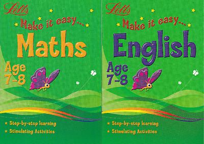Letts Maths & English Age 7-8 Activity Learning Books - 2 Book Set