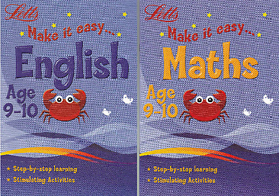 Letts Maths & English Age 9-10 Activity Learning Books - 2 Book Set