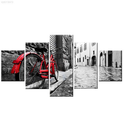 8D6F Oil Painting Canvas Painting Beautiful 5 Panels Unframed Wall Art Hanging