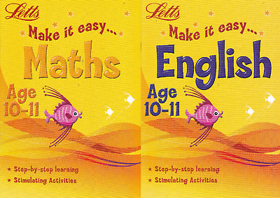 Letts Maths & English Age 10-11 Activity Learning Books - 2 Book Set
