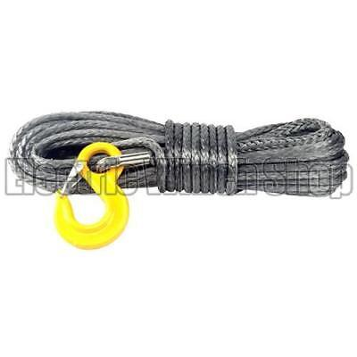 New Warrior Black Edition Synthetic Winch Rope 8mm x 30m with 6100kg MBL