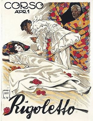Vintage English Opera Company Madam Butterfly Poster   A3 Print