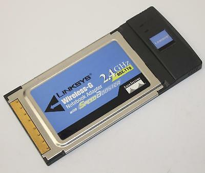 Linksys WPC54GS Wireless-G Notebook Adapter 2.4 GHz WiFi PCMCIA Card