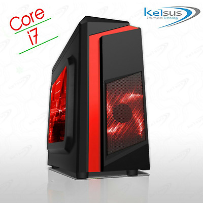 Gaming PC Quad Core i7 Computer SSD HDD 4-16 GB RAM GT GTX GFX Windows 10 WiFi