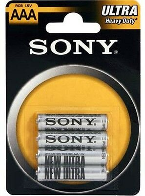 ds Confezione 4 Pile Batterie Sony New Ultra AAA R03 1.5V MiniStilo hsb