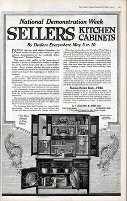 1919 Master Craft Kitchen Cabinet Home Table Miller Ad-7235