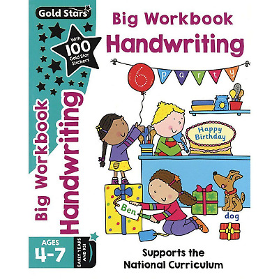 Children's Handwriting Practise Workbook Age 4-7 Key Stage 1(Ks1) Joined Up Etc