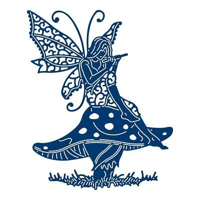Tattered Lace STAR FLOWER FAIRY (Sat on Toadstool) Craft Cutting Die - TLD0670