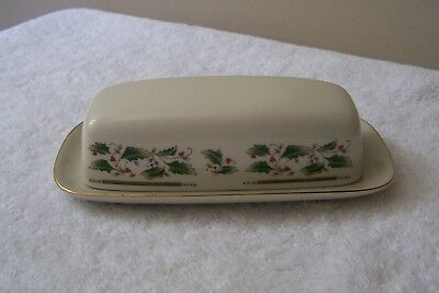Royal Holly Holiday, Christmas, Butter Dish with Lid, Made in Japan