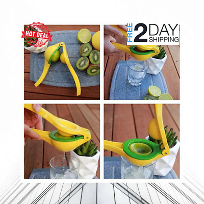 Lemon Squeezer Manual Citrus Press Juicer Garlic Press Stainless Steel 3 in 1