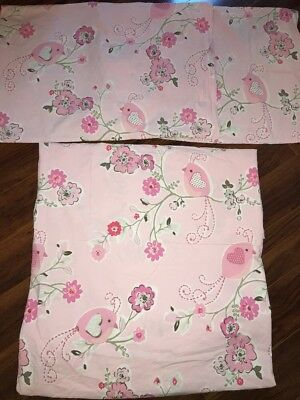 READ Pottery Barn Kids Clara Velvet twin quilt//Euro sham NO SHEET INCLUDED Pink