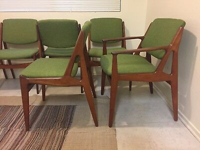 Set Of 6 Arne Vodder Danish Mid Century Modern Teak Dining Chairs