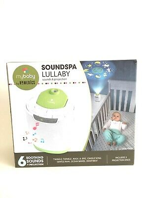 New ! MyBaby Soundspa Lullaby Sound Machine Projector Homedics Baby Night Light