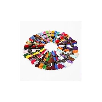 50 Embroidery Sewing Thread Skeins Floss - Mixed Colours 100% Cotton