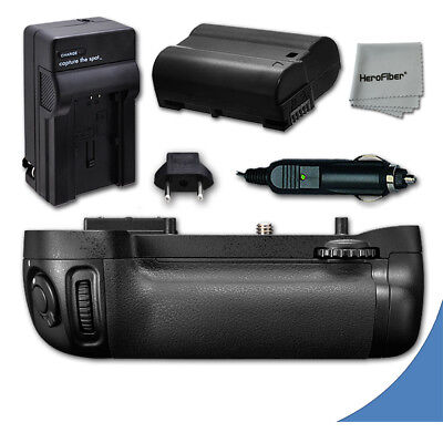 Battery Grip for Nikon D600 DSLR Camera + 1 Long Life EN-EL15 Battery + Charger