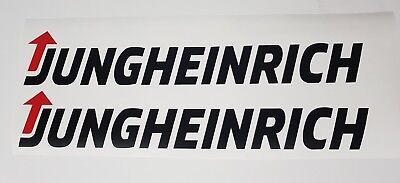 Jungheinrich Large Stickers X2 In White And Black Forklift Transport