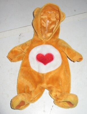 """Water Baby Care Bear Playsuit Sleeper Tenderheart Fits Lauer Baby Face Galoob 9"""""""